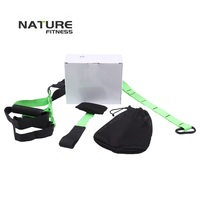 New Green Color Sport Resistance Bands Strength Training Fitness Equipment Spring Exerciser Suspension Hanging Training Strap