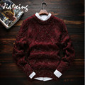 Men New Autumn Leisure Round neck Wool Pullover Sweater Solid color sweater for men Casual fashion Sweater