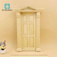 1:12 Кукольный дом Миниатюрный DIY Материал деревянная Роскошная дверь