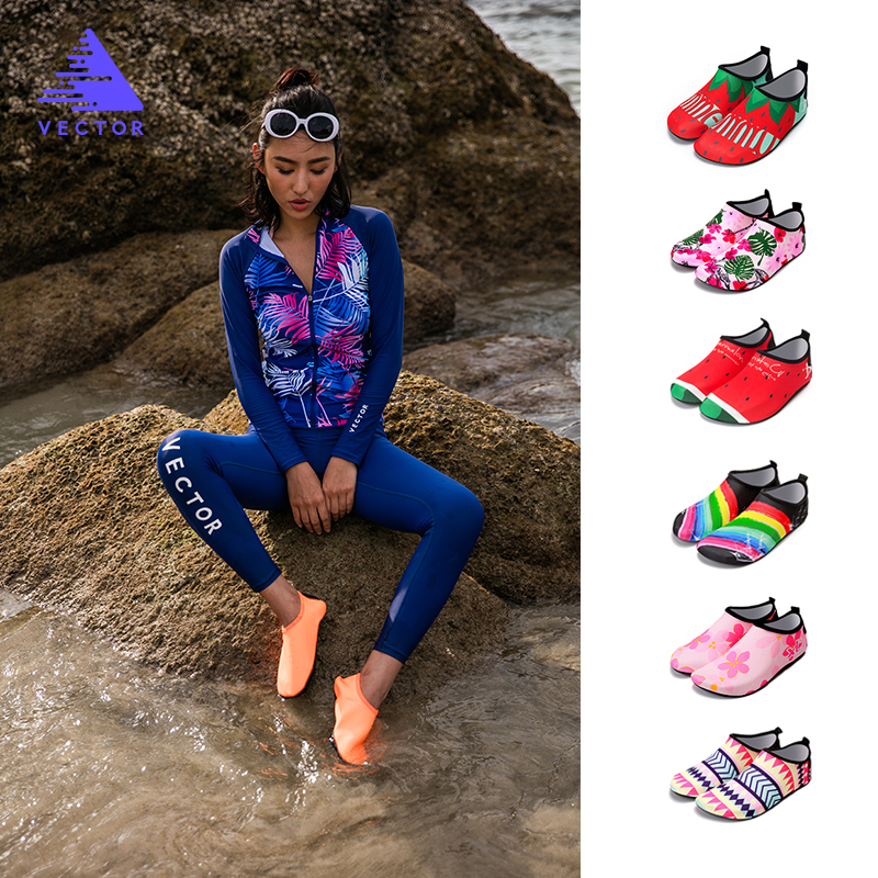 Men Women Diving Snorkeling Socks Outdoor Swimming Beach  Shoes Flat Soft Quick Drying Sneakers Walking Antiskid