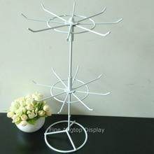 Купить с кэшбэком 2 Tier rotating display shelf for retail cosmetic product stand holder jewelry necklace bracelet rack