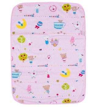 pink baby changing mat