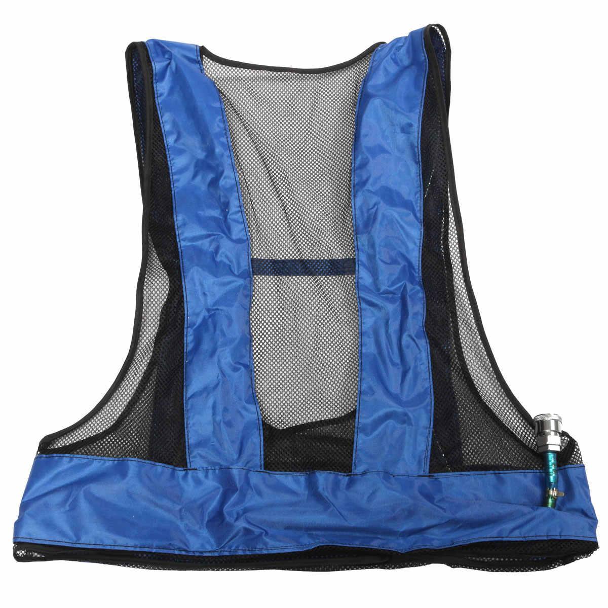 دوامة أنبوب مكيف الهواء صدرية للعمال في عالية درجة الحرارة مضغوط لحام الصلب سترة تبريد مكيف الهواء سترة
