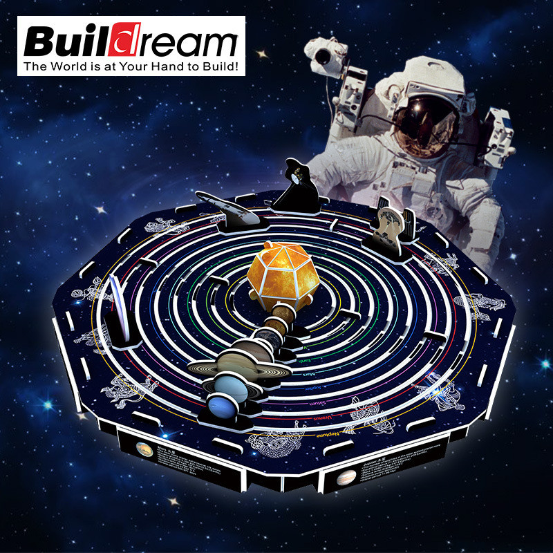 Classic 3D Jigsaw Puzzle Apollo Moon Rocket Solar System International Space Station Construction Brick Model Building Paper