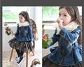 Children's Cowboy Coat Zipper Jacket Girls High-end Jeans Kids Clothing Spring