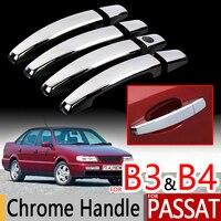 For VW Passat B3 B4 Chrome Handle Covers Trim Set Of 4Pcs Volkswagen MK3 MK4 Car
