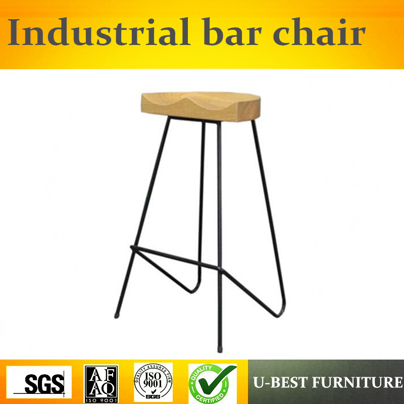Free Shipping U-BEST Vintage Industrial Antique Style Barstool Metal Counter Kitchen Bar Stool