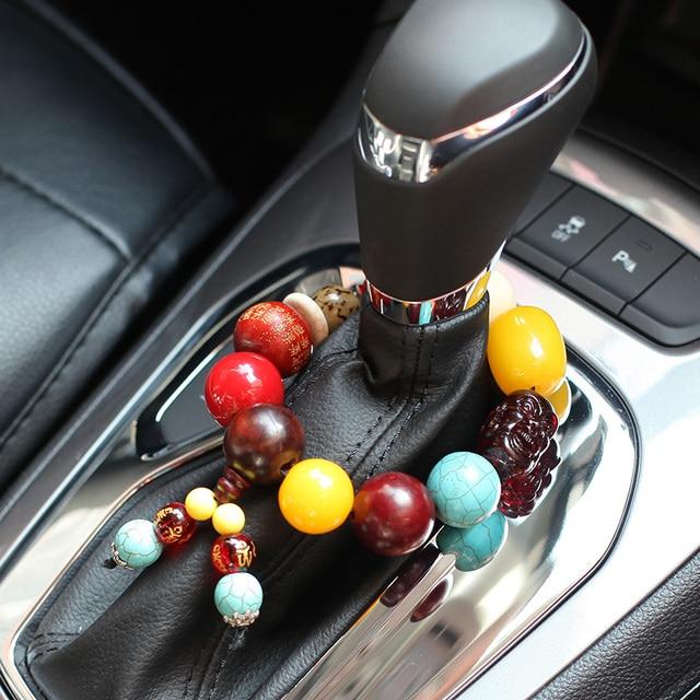 Lujo coche frena perla colgante de ágata Cuentas Paul símbolo de paz ...