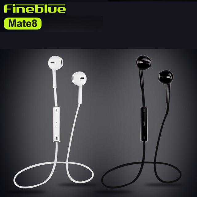 Fineblue mate 8 música bluetooth 4.0 auricular estéreo inalámbrico de auriculares auriculares auriculares con micrófono de manos libres para el teléfono inteligente