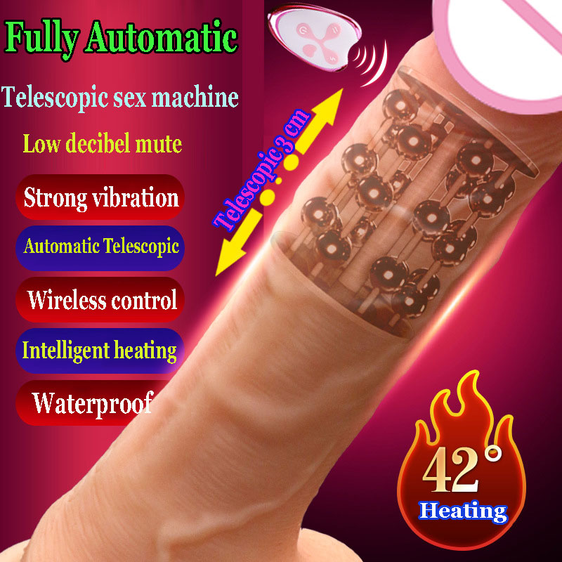 CPWD Vibrating Dildo Realistic Suction Cup Automatic Telescopic Dildo Vibrator Heating Thrusting Vibrator Sex Toys for