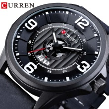 CURREN Fashion Racing Design Full Black 2018 Casual Sport Military Wristwatch Men Male Quartz Clock Top Brand Luxury Date Analog