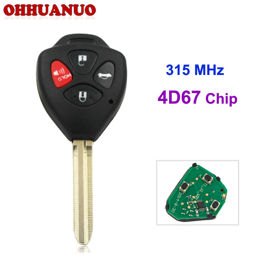 315mhz,4d-67 Chip Inside For Toyota 2007-2010 Avalon/corolla Toy43 Blade 3+1 Buttons usa Have An Inquiring Mind 4 Buttons Remote Key