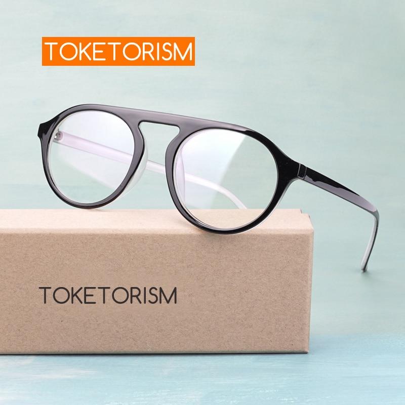 Toketorism Round Retro Eyes Glasses For Men Eyewear Frames Women Trend Glasses 5142