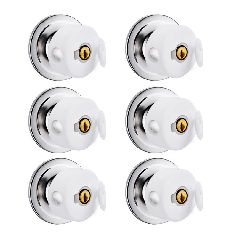 6 Pack Door Knob Covers -Thicken Child Safety Cover,Child Proof Doors White (Thickened With Buckles)