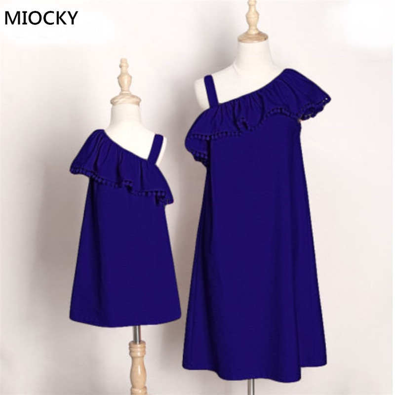 Household Set Indirect Shoulder Mommy and Me Garments Mom and Daughter Garments Household look Matching Outfits Women Attire LD E0131 Matching Household Outfits, Low cost Matching Household Outfits, Household...