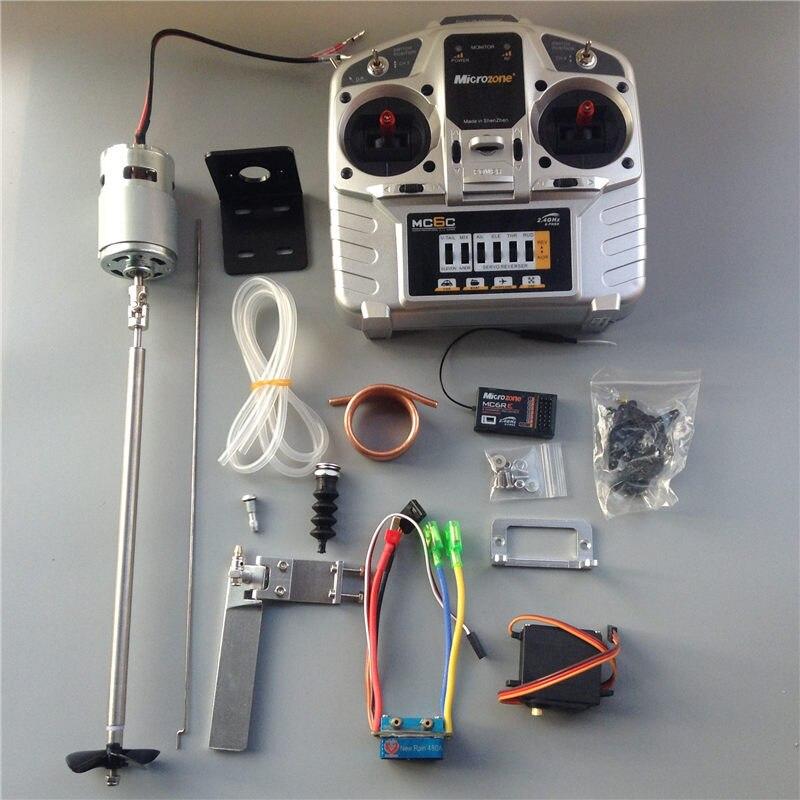 1 комплект RC лодка приводной набор 775 мотор + 480A матовый ESC + пропеллер + сервопривод + руль + 25 см вал + приемник + контроллер комплект для Радиоу