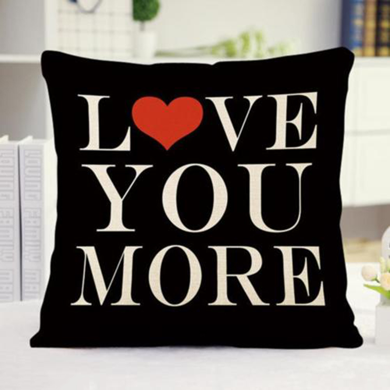 Letter Pillow Cover Words Love Heart Pillow Case Vintage Flower Cushion Cover for Home Decoration Pillows