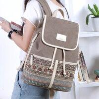 Canvasartisan Одежда высшего качества холст Для женщин рюкзак Повседневное Колледж рюкзак женский Ретро Стильные ежедневных поездок ноутбука Рюкзаки сумка