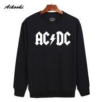 Rock And Roll AD DC Harajuku Sweatshirt Black And Classic Mens Winter Warm Street Wear Skateboards