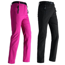2016 Women Winter Inside Fleece Pants Outdoor Waterproof SportsThick Brand Clothing Hiking Camping Skiing Female Trousers MB008