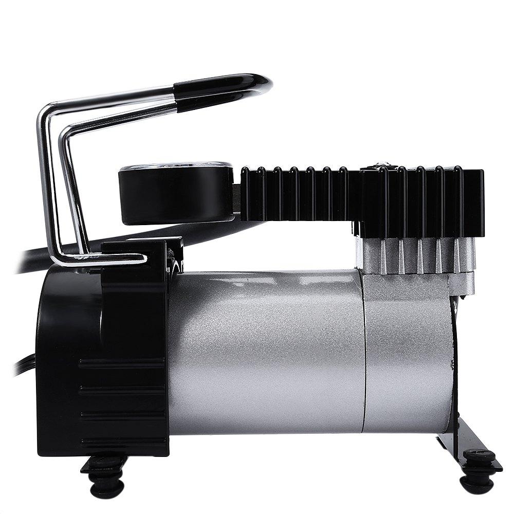 Prix pour 2016 DC 12 V Voiture Électrique Gonflable De Pompage Pompes À Air Compresseur 100 PSI Auto Cigarette Prise Allume Métal Shell pour Durable utiliser