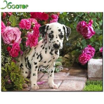 Yogoto 5d Diy Elmas Boyama Hayvan Köpek Dalmaçyalı Köpek Tam Kare