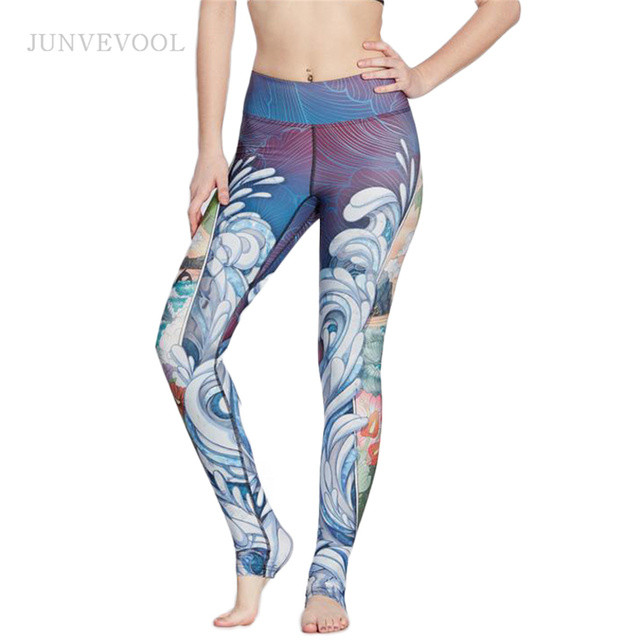 afc047d8b791d Painting Sexy Leggings Women Fitness Gothic Pencil Pant Elastic Cropped Workout  Legging Bodycon Slim Pretty Leggins Trousers