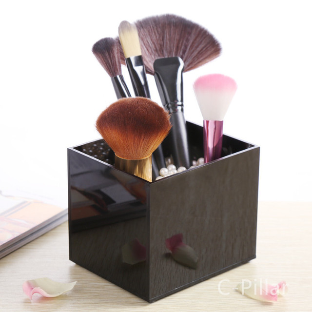 2016 Brush Storage Boxes Clear Acrylic Makeup Cosmetic Organizer Pearls  Lipstick Display Rack Holder Not Includ