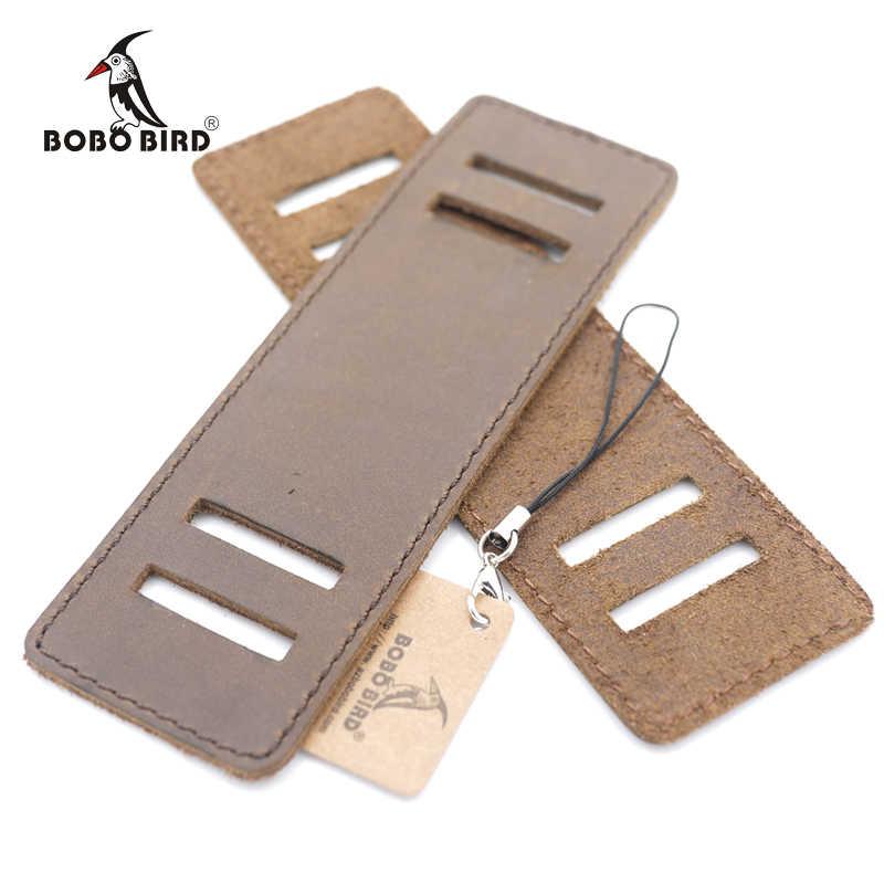 BOBO pájaro de cuero desmontable de banda ancha de bambú relojes de Madera Suave amplia correa de cuero