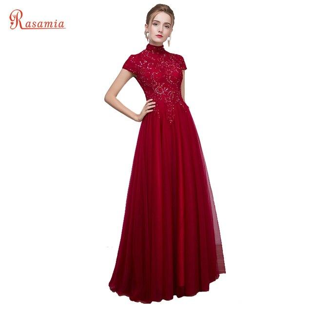 Burgund Prom Dresses Lange Pailletten Abendkleid Vintage Frauen ...