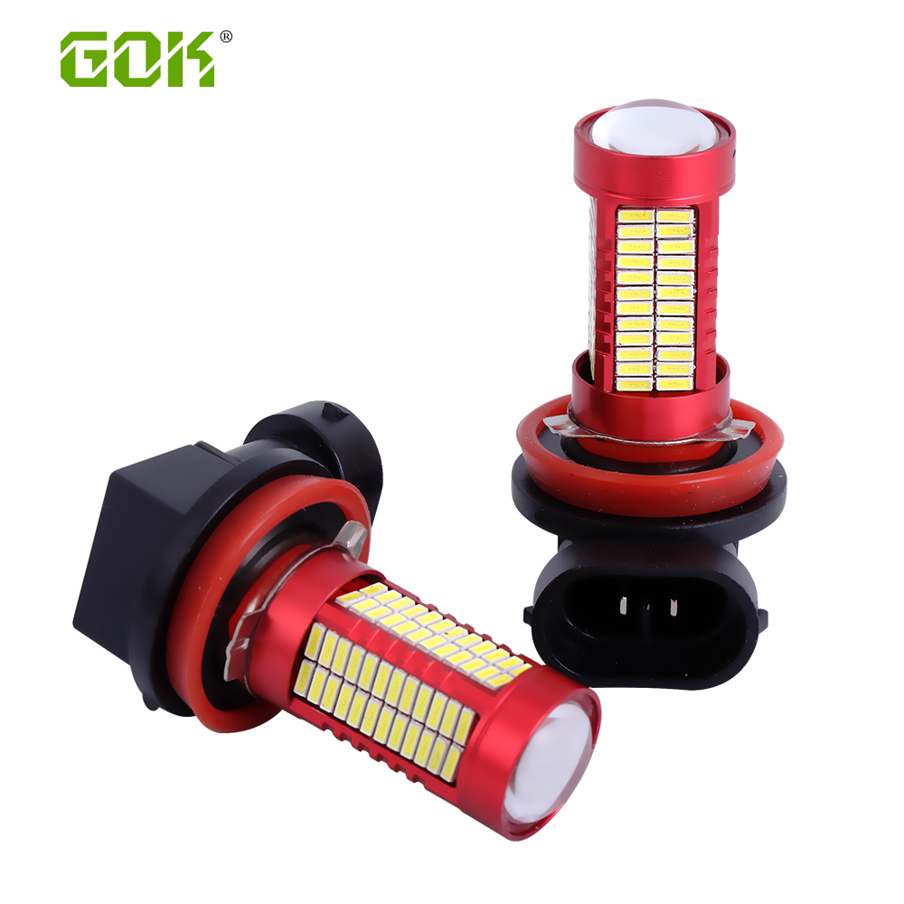 2db fehér LED H11 H8 LED 106smd 4014 HB3 9005 9006 HB4 LED - Autó világítás