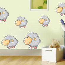 Cartoon Animal Sheep Color Wall Stickers For Kids Rooms Decoration Cute Removable Wallpaper Decals Nursery Home Decor