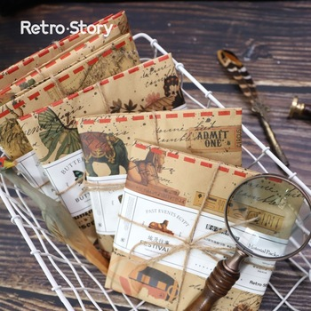 12sets/1lot Retro scene Diary Planner Decorative Mobile Stickers Scrapbooking Craft Stationery Stickers