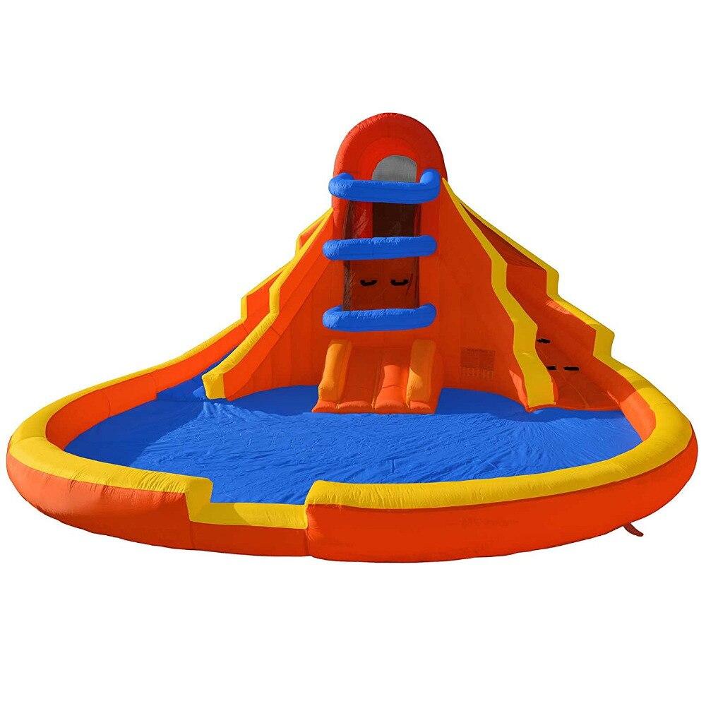 Château gonflable de glissière de videur de glissière d'eau de parc d'attractions de saut heureux