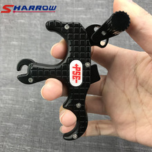 Sharrow 1 Piece 3 Fingers Grip Compound Bow Arrow Release Colors Tool Archery Accessory for Hunting Shooting