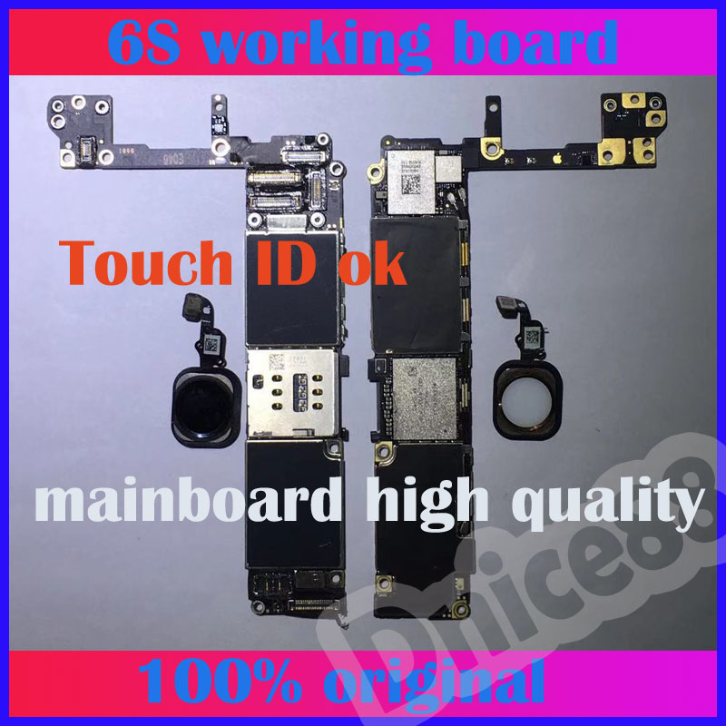 Original For iphone 6S 64GB motherboard ,unlocked mainboard , with Touch ID,and high quality of 6S 4.7Original For iphone 6S 64GB motherboard ,unlocked mainboard , with Touch ID,and high quality of 6S 4.7