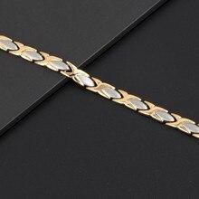 Stainless Steel Magnetic Hologram Bracelet