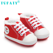 TOPATY 2018 New Canvas sport baby shoes Newborn Boys Girls First Walkers Infantil Toddler Soft sole Prewalker Sneakers for 0-18M