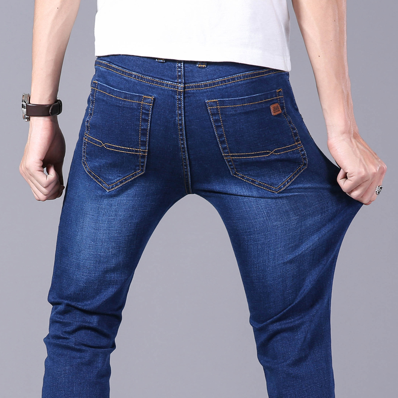 BabyYoungMen Stretch Denim Washed Bodycon Pencil Jeans Pants Trousers