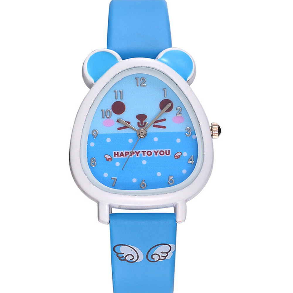 New Lovely Animal Design Boy Girl Children Quartz Watch Kid's Birthday Gift Clock Children Kol Saati#W