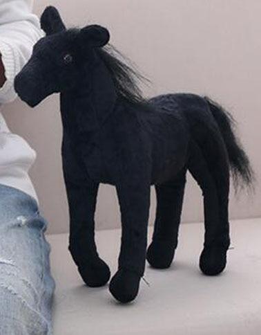 Bolafynia Simulation Zebra White Black Horse Plush Toy Children