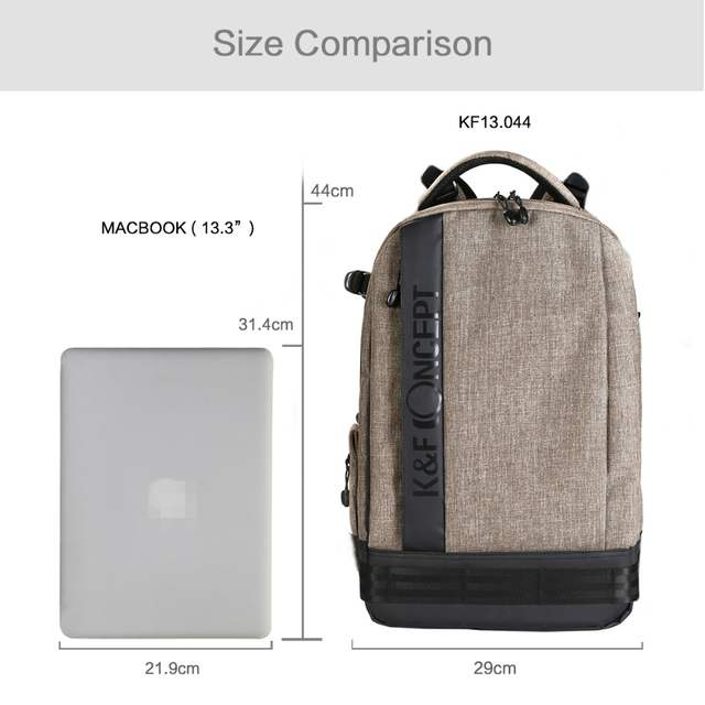 ba917af6a4 placeholder K F CONCEPT Waterproof Nylon Camera Backpack (L) Big Size hold  1 Camera+6