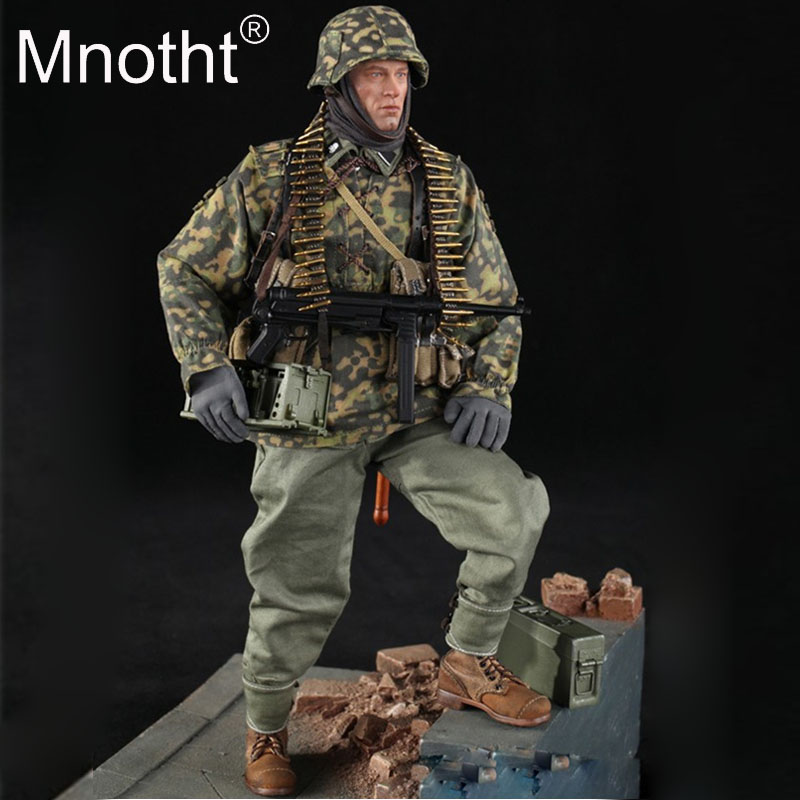 1/6 Scale Action Figure Toys DID D80125 German Panzer Divison MG34 Gunner Ver. B Baldric Male Soldier Model toys collections m3 1 6 scale wwii german admiral heydrich model action figure toys did 3r gm633 soldier toys collections m3