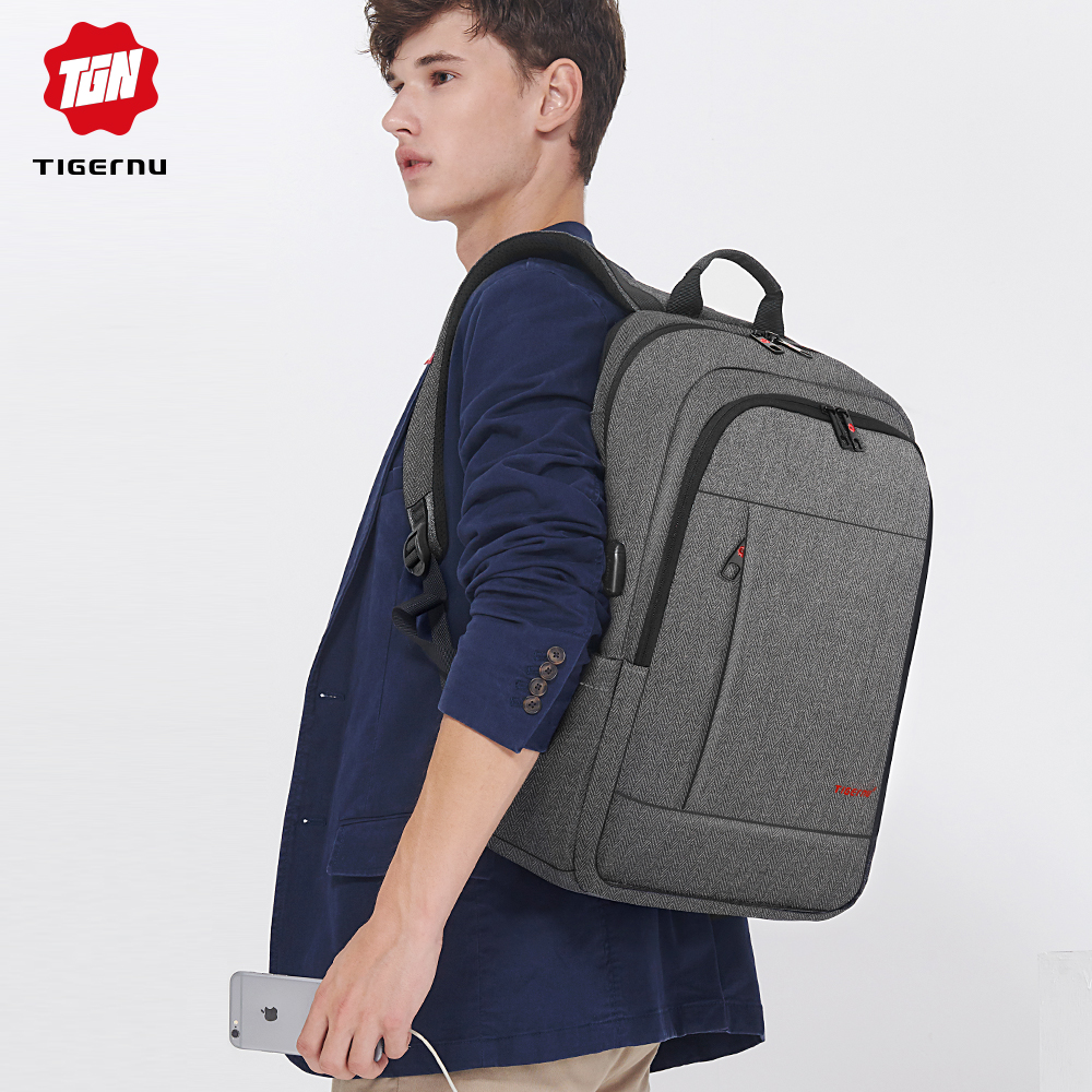 Tigernu Anti theft USB charging Men 17inch Laptop Backpack Women Backpack Mochila School Backpack Bag Casual