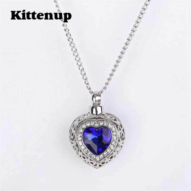 Kittenup New Trendy Romantic Style Blue Color Heart Shape Can Open ...