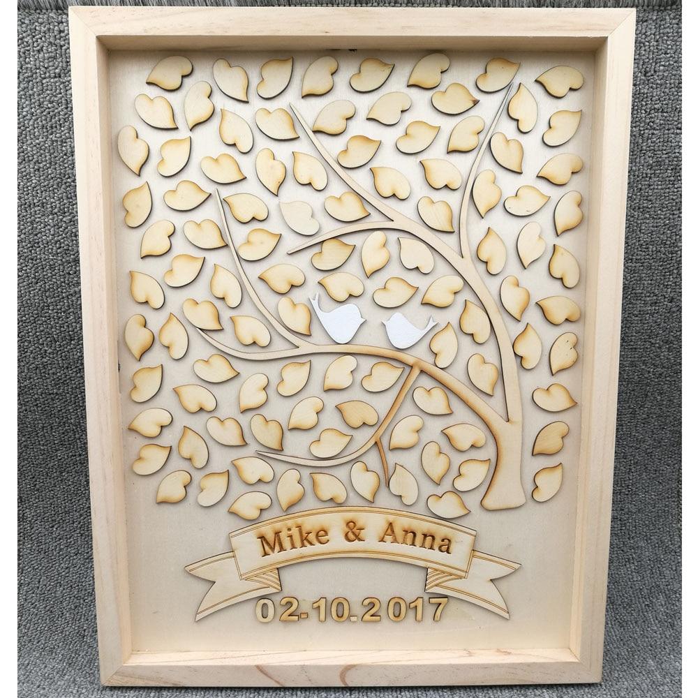 Top 100 Wedding Gifts: Personalised Wedding Guest Book, Custom Drop Top Drop Box