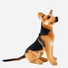 30-90cm Giant Dog Toy Realistic Stuffed Animals German Dog Shepherd Plush Toys Gift For Children