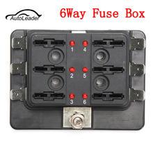 DC12V/24V/32V 6Way Car Boat Automotive Blade Fuse Box Block