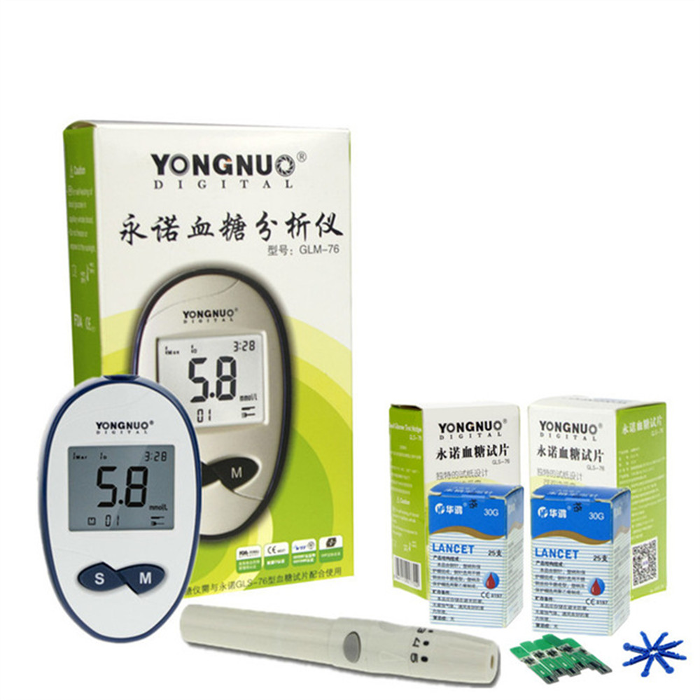Portable Blood Glucose Diabetes Household Blood Sugar Monitor Meter With 50pcs Strips And 50pcs Lancest Needle Health Care Tools one time collector sterile phlebotomy collection needle 50 28g blood glucose injection security lock cassette