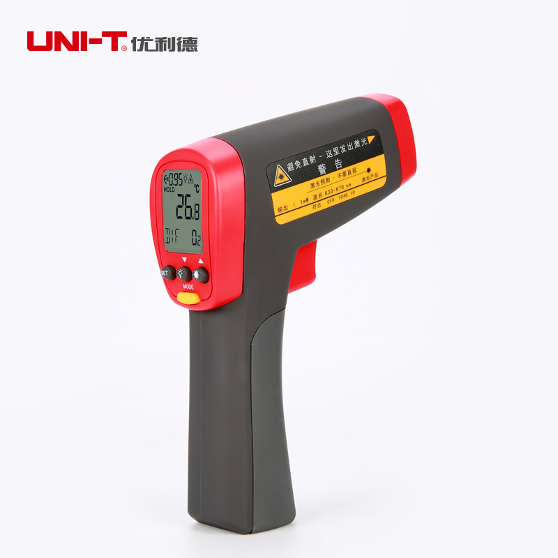 Uni-t UT302D termometro medidor de temperatura nao de infravermelho de mao Industrial IR termometro Gun - 32 a 1050C uni t ut323 termometro digital sensor de temperatura tester com alta baixa de alarme e a auto